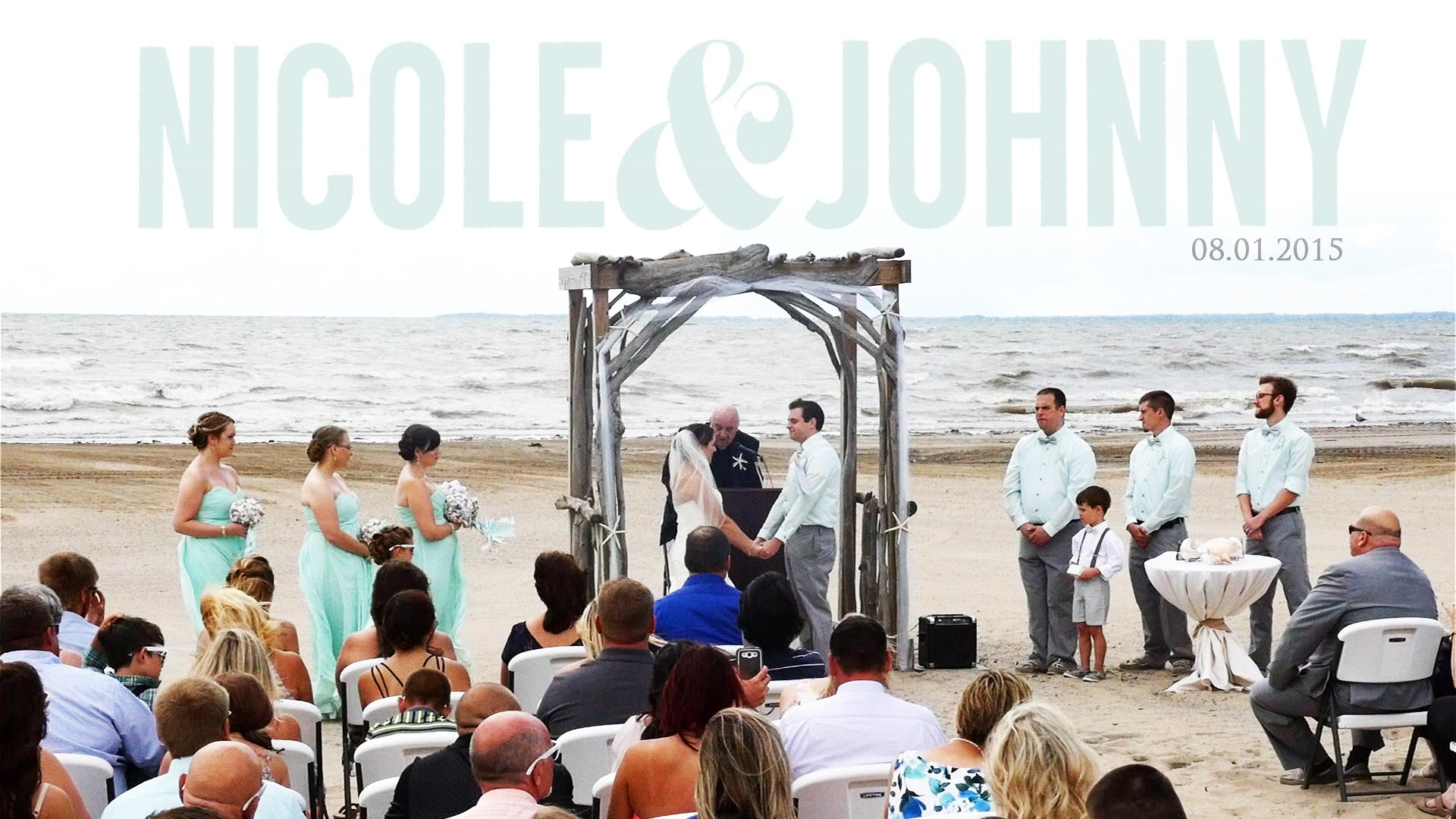 Nicole & Johnny – Lake Erie Beach Wedding