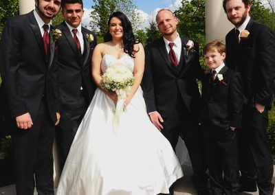 13 Bride w Groomsman
